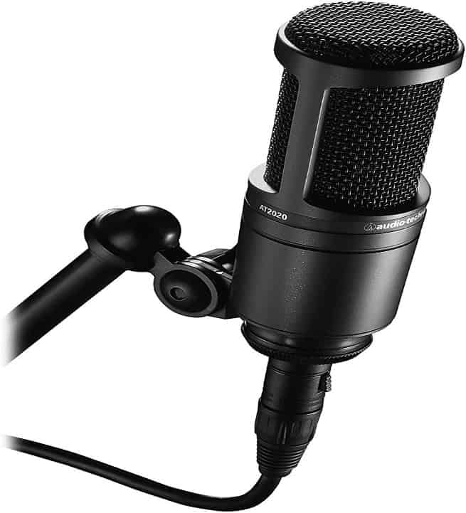 Amazon.com: Audio-Technica AT2020 Cardioid Condenser Studio XLR Microphone,  Black, Ideal for Project/Home Studio Applications: Musical Instruments